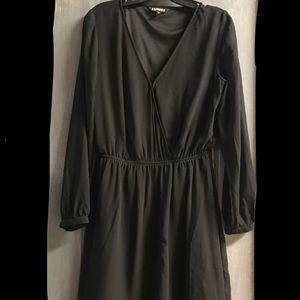Express Sexy Black Chiffon LBD Dress